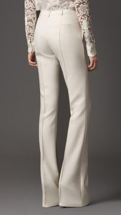 Burberry London cotton blend flared trousers 2
