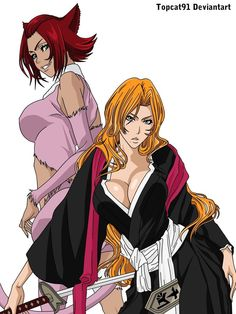 Matsumoto Rangiku and Haineko by TOPCAT91 on deviantART