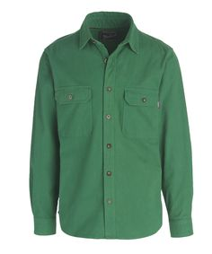 Men's Expedition Chamois Shirt - Modern Fit - Small - Forest Green