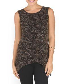 Embellished Glitter Knit Tunic by Onyx