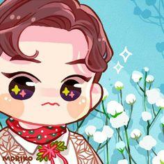 Xiumin <credits to owner> Kpop Exo, Exo Xiumin, Exo Stickers, Ko Ko Bop, Exo Fan Art, Kim Minseok, Xiuchen, Kawaii Chibi, Kpop Fanart