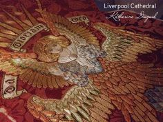 Katherine Diuguid. Liverpool Cathedral to see if I could get an appointment to view the Elizabeth Hoare embroidery collection