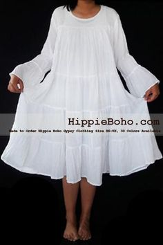 - Size Hippie Boho Bohemian Gypsy White Peasant Bell Long Sleeve Plus Size Sundress Tiered Mini SkirtProduct description Material : Gauze Cotton Length : Lining : Lining included. Size : and Color : More than 30 colors available. Plus Size Bohemian Clothing, Plus Size Womens Clothing, Plus Size Fashion, Boho Clothing, White Maxi Dresses, Plus Size Maxi Dresses, Plus Size Outfits, White Dress, Plus Size Festival Outfit
