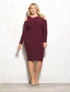 BEYOND by Ashley Graham Plus Size Cold Shoulder Dress