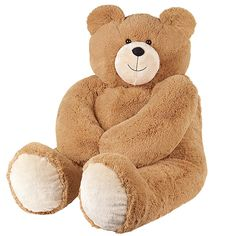 6' Giant Hunka Love™ Bear? Honey...if you're thinkin' of buying this for V-Day, don't. Please. (Where would we keep this man-sized dust collector!?)