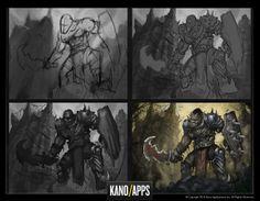 Concept Art Process  #process #wip #kanoapps #concept art #art #digital art #wacom #photoshop #doodle #sketch #orc #boss concept Doodle Sketch, Process Art, Game Art, Concept Art, Boss, Digital Art, Doodles, Batman, Photoshop