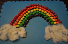 100 Days of School Project: Rainbow of Skittles! How to instructions. Super cute & simple.