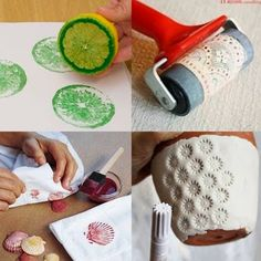 Fun bubble wrap crafts and activities for kids Diy And Crafts, Crafts For Kids, Arts And Crafts, Paper Crafts, Bubble Wrap Crafts, Fabric Stamping, Handmade Stamps, Fabric Painting, Zen Painting