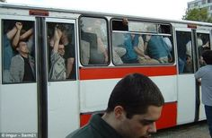 Pushed for room: We can only assume this is some sort of stunt, but there are times when b...