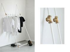 moderne Kleiderständer Design Ideen  Materialien