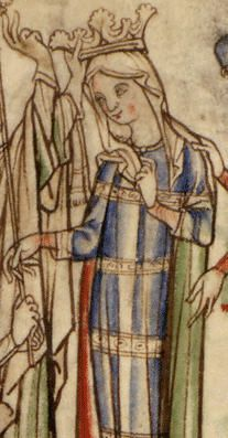 "Coronation of Queen Edith of Wessex, wife of King Edward the Confessor, from the manuscript ""The Life of Edward the Confessor"",1220-40"