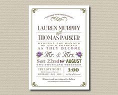 Printable Wedding Invitation & RSVP   Olive by rosiedaydesign, $35.00