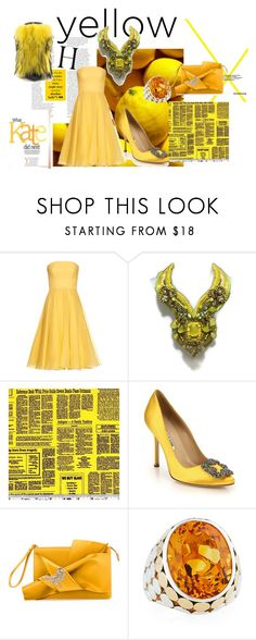 """super yellow!"" by mimmiandkinkistatementjewelry ❤ liked on Polyvore featuring Alexander McQueen, Manolo Blahnik, N°21, John Hardy and Lust For Life"