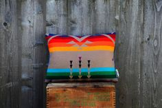 Rainbow Bird Pillow | BRIKA - A Well-Crafted Life on Wanelo