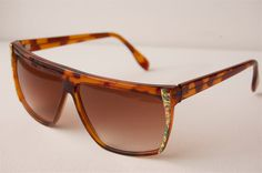 Brown And Gold Clubmaster Sunglasses A48. $12,99, via Etsy.