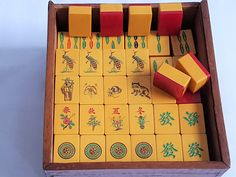 BAKELITE MAHJONG PIECES