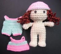 crochet mini doll
