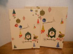 VINTAGE MARSHALL FIELDS FIELD'S PAIR OF CHRISTMAS BOXES CLOCK EXCELLENT