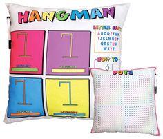 Gigantic Collection Of Gift Ideas For Tween Girls | Hangman Game Pillow