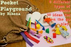 Period Pocket-Playground? SCA Children/Kids Costumed Dolls Natural Blocks Dyed wood beads A light and a dark Wax ' Model Clay' Rusti colored pencils homemade paper a little Basket to put it all in?