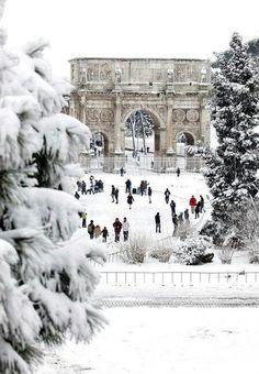 Rome under snow...