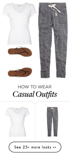 """casual"" by twerkinonmaz on Polyvore featuring Madewell, James Perse and Havaianas"