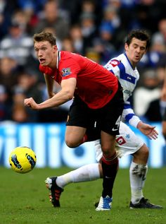 The 'Run Away From Barton' face Phil Jones, Manchester United Premier League, Queens Park Rangers, Barclay Premier League, Premier League Matches, Man United, Soccer Ball, Photos, Manchester United