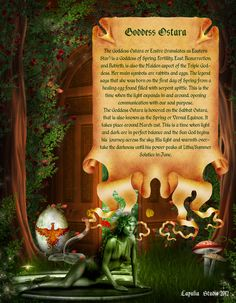 Ostara is one of the most important Pagan Holidays and every witch and wizard must know what it is all about. Description from lapuliabookofshadows.com. I searched for this on bing.com/images