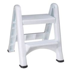 Rubbermaid Commercial Products Two-Step Folding Stepstool, White Load Capacity, x Depth x Bush Office Furniture, Commercial Office Furniture, Kids Furniture, Chairs For Bedroom Teen, Accent Chairs For Living Room, Plastic Folding Chairs, Folding Stool