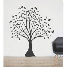 black tree wall sticker