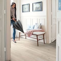 Quick-Step Impressive Ultra Soft Oak Light flooring - looks so fresh and light