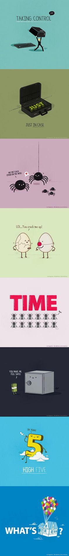 Clever pun illustrations