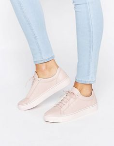 Vagabond Zoe Pink Colour Drenched Leather Trainers