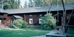While Seurasaari Open Air Museum doesn't open until May, you can still wander the island and enjoy the peace and quiet and reflect on how Finn's lived in days gone by. The squirrels are very friendly also ; Finland, Cabin, Squirrels, House Styles, Museums, Wander, Plants, Peace, Design