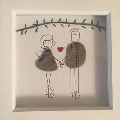 #pebbles #pebbleart #pebblepicture #engagementpresent #weddingpresent #bespoke #dumfries #gift #couple #love #scottishpebbles #somethingdifferent
