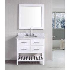 30-inch Belvedere Bathroom Vanity with Marble Top | Overstock.com Shopping - The Best Deals on Bathroom Vanities