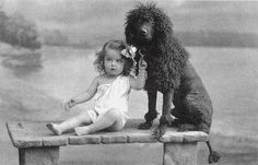 Antique dog photo postcard, child with poodle, 1905 Vintage Children Photos, Vintage Photos, Vintage Photographs, Dog Love, Puppy Love, Nanny Dog, Dogs And Kids, Vintage Dog, Old Dogs
