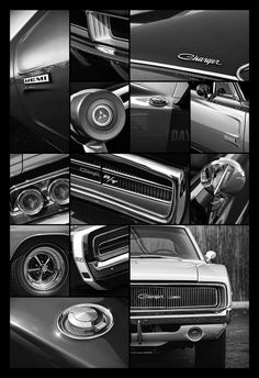 1968 1969 1970 Dodge Charger Collage - by Gordon Dean II