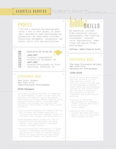 Resume Template | Rivet Deck Yellow – Loft Resumes