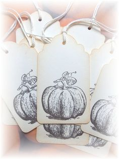 Pumpkin - Decorative Gift/Hang Tags 8 by HeartsCalling on Etsy