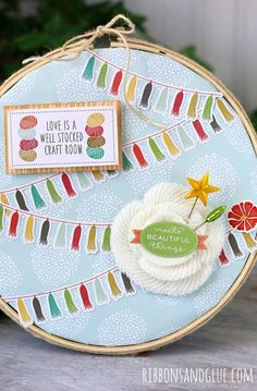 Altered Embroidery Hoop... - Ribbons & Glue