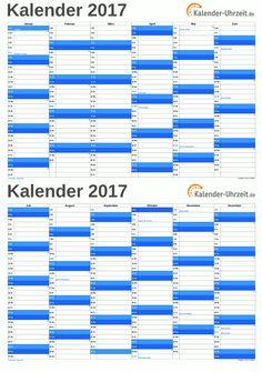 72 best Kalender 2017 zum Ausdrucken images on Pinterest | Calendar ...