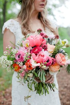Photo by Louisa Marion Photography, floral design and bouquet by Munster Rose! Bouquet Bride, Wedding Bouquets, Spring Wedding, Dream Wedding, Wedding Flower Inspiration, Wedding Ideas, Bridal Flowers, Bright Wedding Flowers, Big Flowers