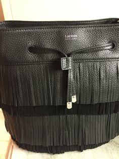 6479d573d49d Ralph Lauren Handbag Drawstring Cobden Bucket BLACK Leather NWT  268   RalphLauren  BucketDrawstring Ralph Lauren