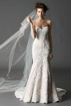 Watters 'Vida' in Ivory/Rose (available in other colors also available unbeaded)