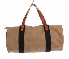 waxed tan/brown, the perfect travel bag