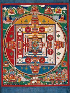 Kalachakra mandala  Tibet  18th century  Thangka. Gouache on cotton  Height: 80.6 cm, width: 66.5 cm  Potala, Lhasa