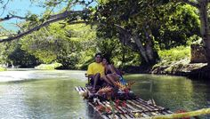 River rafting in Jamaica on the Martha Brae River