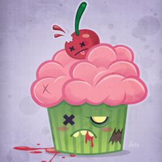 Ideas Cupcakes Drawing Zombie For 2019 Zombie Cupcakes, Cartoon Cupcakes, Cute Cupcakes, Halloween Cupcakes, Cupcake Kunst, Cupcake Art, Zombie Food, Cute Zombie, Funny Zombie