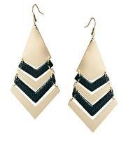 Pieces Eluka Leather Earrings